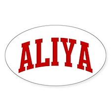 ALIYA (red) Oval Decal