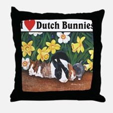 I love Dutch Bunnies Throw Pillow