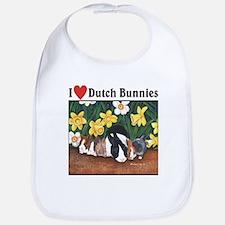 I love Dutch Bunnies Bib
