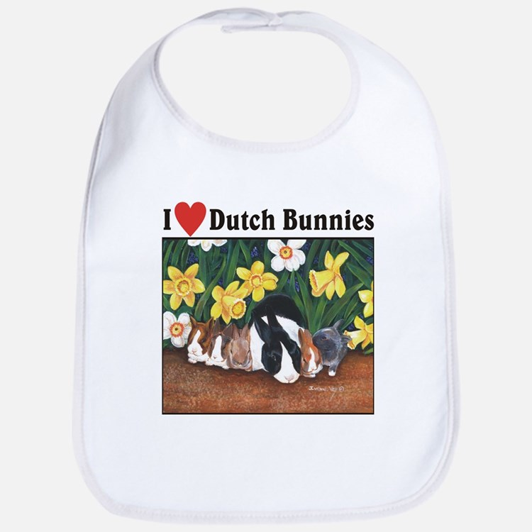 I love Dutch Bunnies Bib