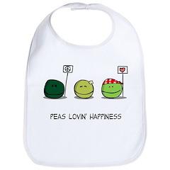 Peas Lovin' Happiness Bib