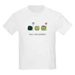 Peas Lovin' Happiness Kids T-Shirt