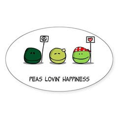 Peas Lovin' Happiness Decal
