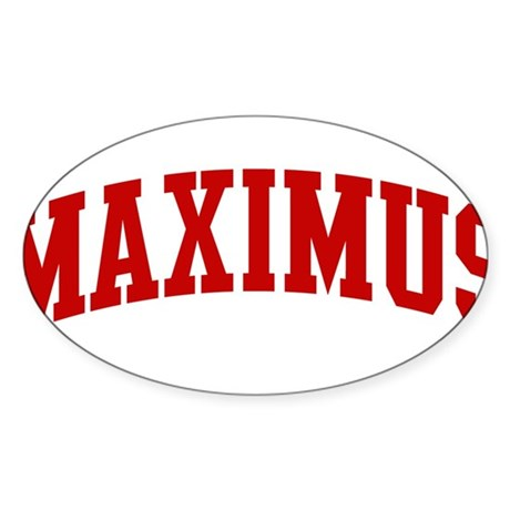MAXIMUS (red) Oval Sticker
