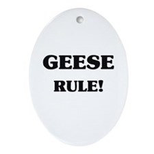 Geese Rule Oval Ornament