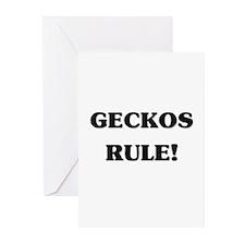 Geckos Rule Greeting Cards (Pk of 10)
