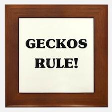 Geckos Rule Framed Tile