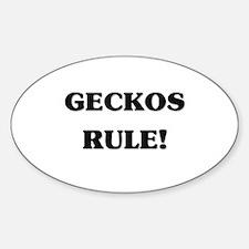 Geckos Rule Oval Decal
