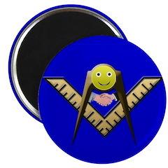Happy Mason Masonic Fridge Magnet