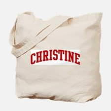 CHRISTINE (red) Tote Bag