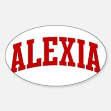 ALEXIA (red) Oval Decal
