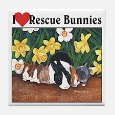 I love Rescue Bunnies Tile Coaster