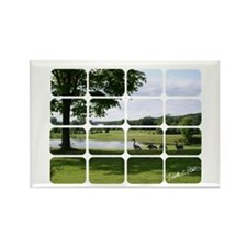 "fcp ""ducks on the pond"" Rectangle Magnet"
