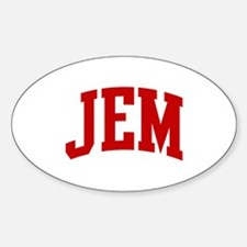 JEM (red) Oval Decal