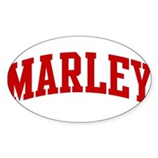 MARLEY (red) Oval Bumper Stickers
