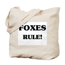 Foxes Rule Tote Bag