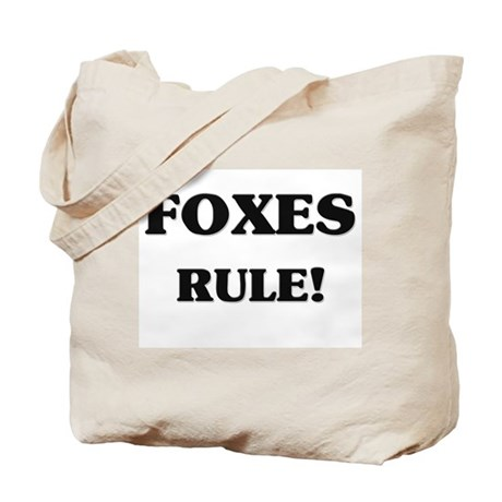 Foxes Rule Tote Bag