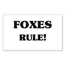Foxes Rule Rectangle Decal