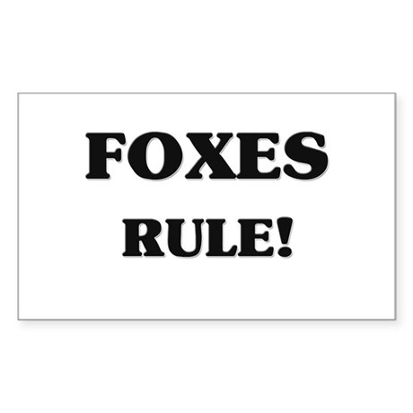 Foxes Rule Rectangle Sticker