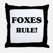 Foxes Rule Throw Pillow