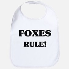 Foxes Rule Bib