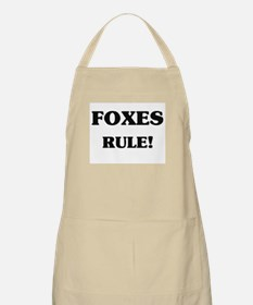 Foxes Rule BBQ Apron