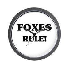 Foxes Rule Wall Clock