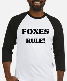 Foxes Rule Baseball Jersey