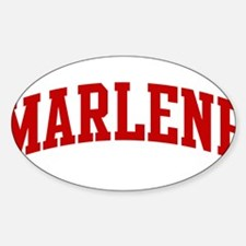 MARLENE (red) Oval Decal