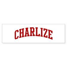 CHARLIZE (red) Bumper Bumper Sticker