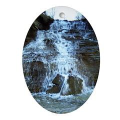 Lake Erie Waterfall Oval Ornament