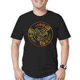 Crop circle Fitted T-shirts (Dark)
