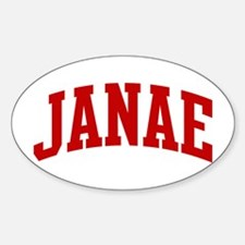 JANAE (red) Oval Decal