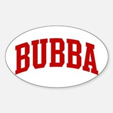 BUBBA (red) Oval Decal