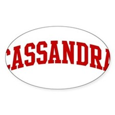 CASSANDRA (red) Oval Decal