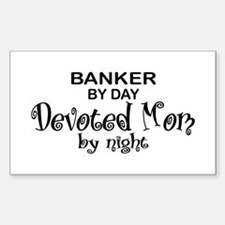 Banker Devoted Mom Rectangle Decal