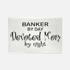 Banker Devoted Mom Rectangle Magnet