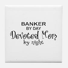 Banker Devoted Mom Tile Coaster