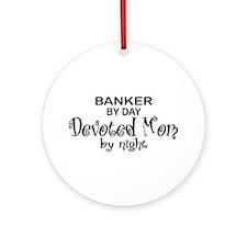 Banker Devoted Mom Ornament (Round)