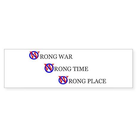 Wrong War Bumper Sticker