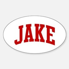 JAKE (red) Oval Decal