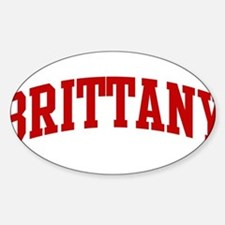 BRITTANY (red) Oval Bumper Stickers