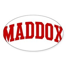 MADDOX (red) Oval Decal