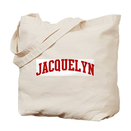JACQUELYN (red) Tote Bag