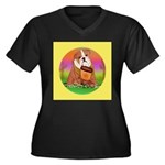 Howdy Dude English Bully Women's Plus Size V-Neck