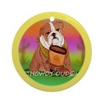 Howdy Dude English Bully Ornament (Round)
