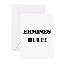 Ermines Rule Greeting Cards (Pk of 10)