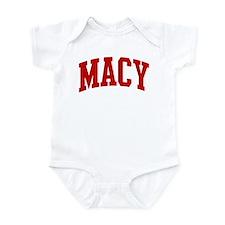 MACY (red) Infant Bodysuit