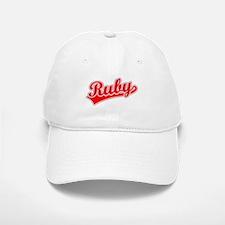 Retro Ruby (Red) Baseball Baseball Cap