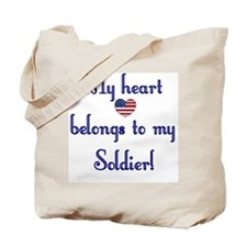 Heart Belongs 2 Canvas Tote Bag (A)